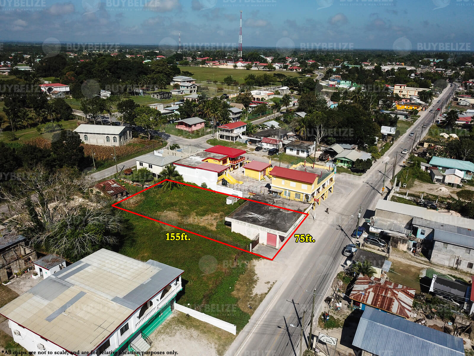 Quarter Acre Commercial Lot with Building for Sale in Orange Walk Town Belize