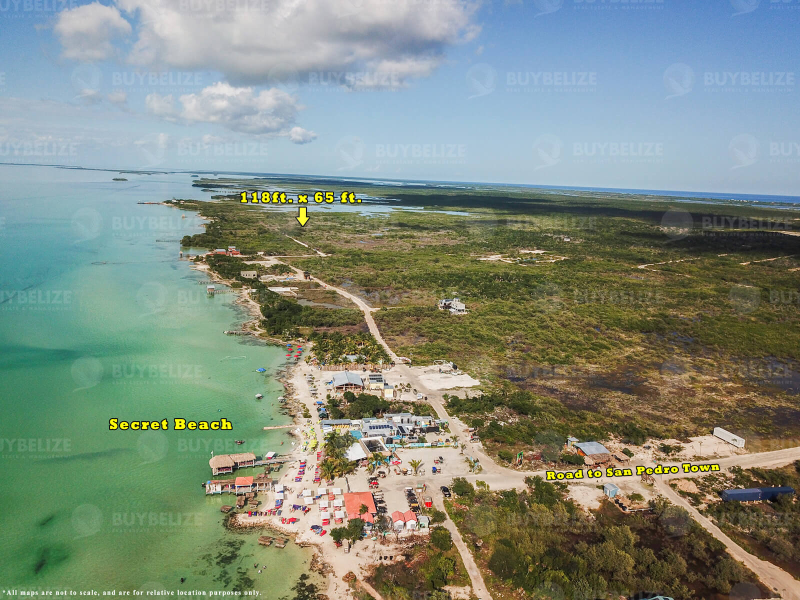 Large Lot for Sale in Secret Beach Area, Ambergris Caye, Belize
