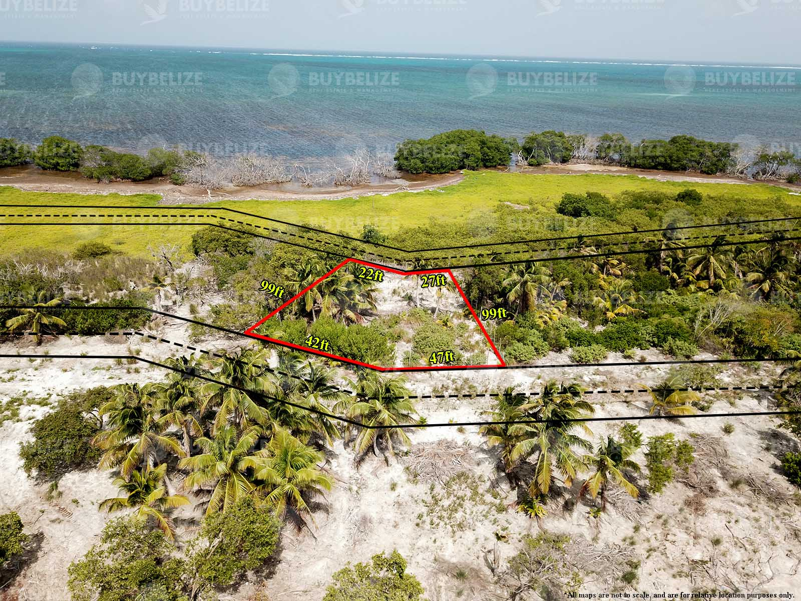 Beautiful Sea Front lot For Sale In North Caye Caulker