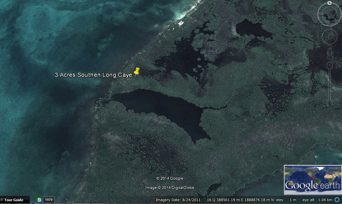 3 Acres on Southern Long Caye