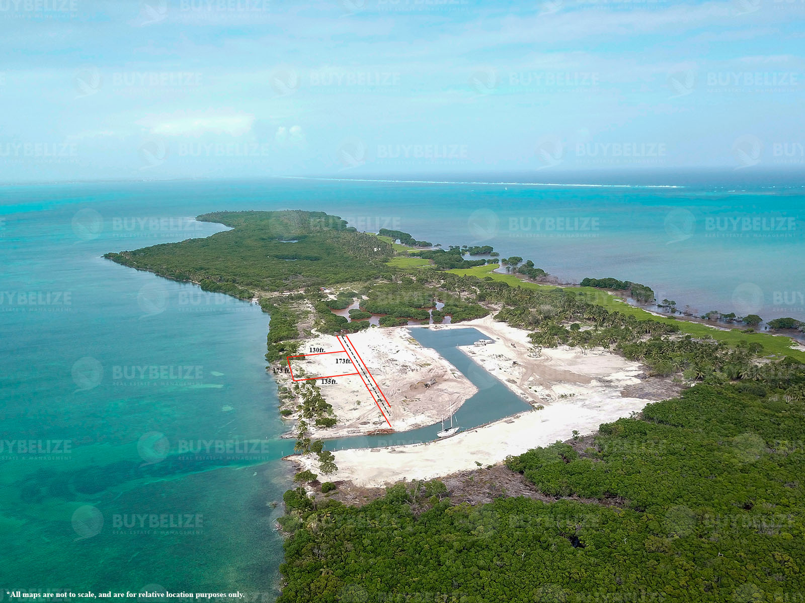 Half Acre Beach Front Property for Sale in Caye Caulker