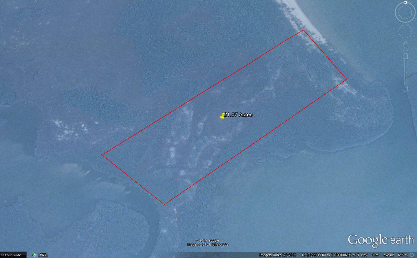 21.07 acres of lagoon frontage property