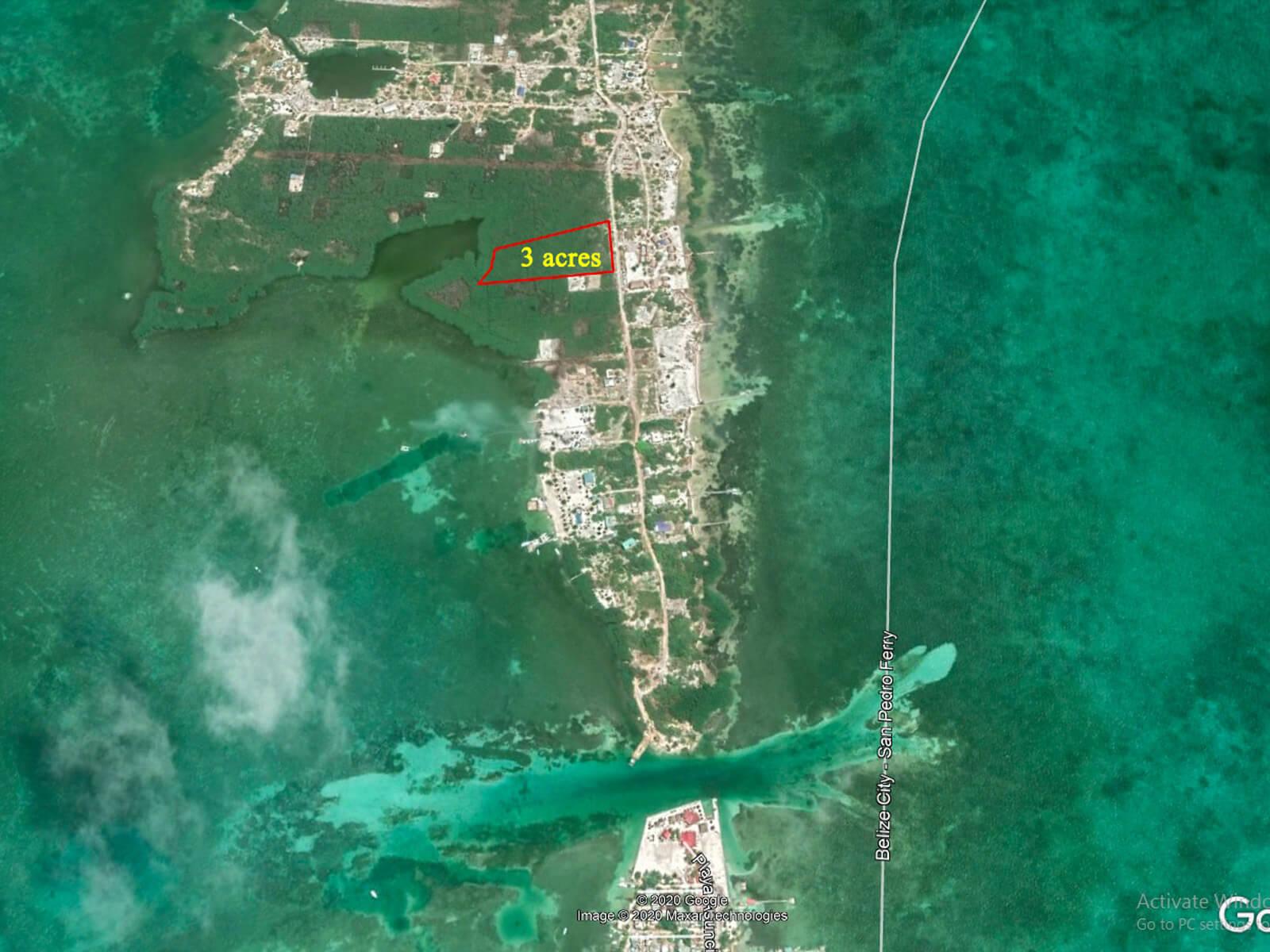 3 Acres of Prime Commercial Land for Sale in Caye Caulker