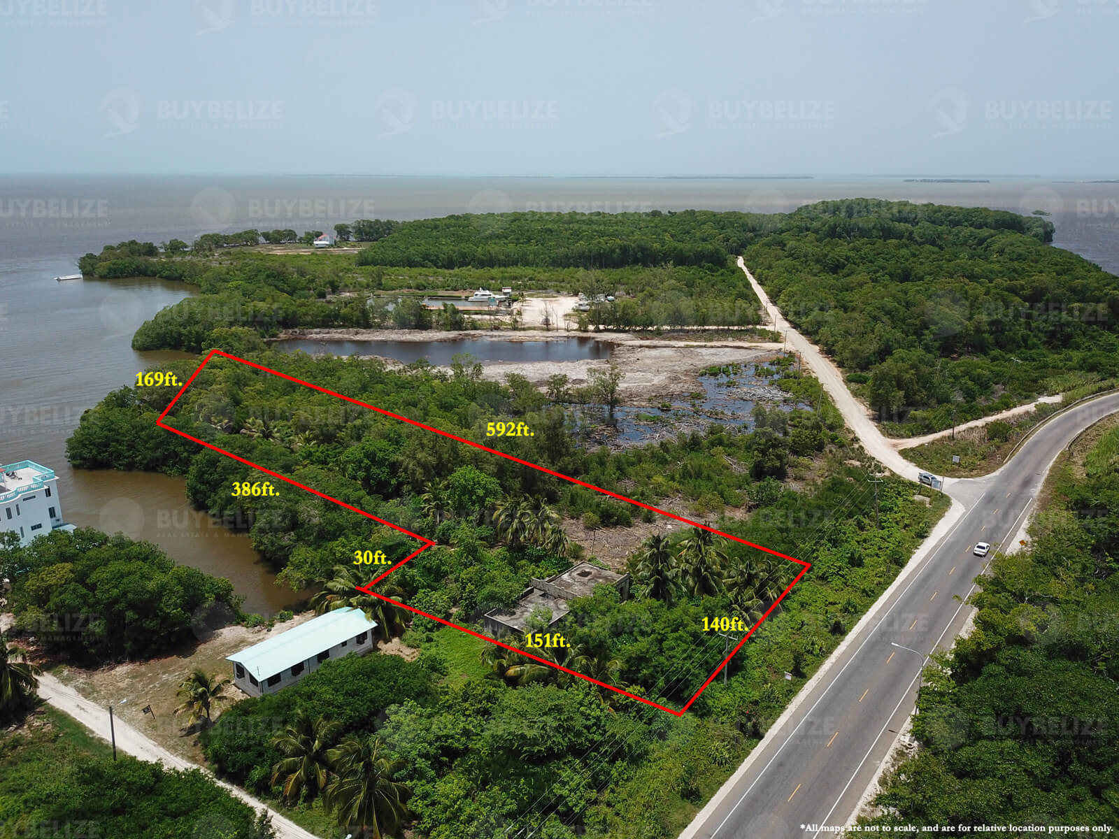2 acres of Seafront Commercial Land for Sale in Belize