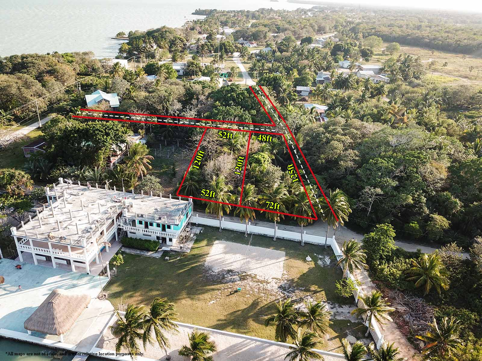 Double corner lot with 2 bed 1 bath house for sale in Corozal District