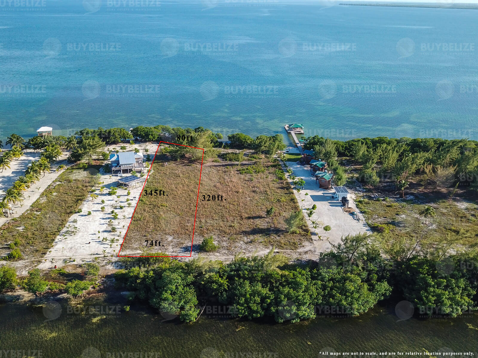 Beachfront lot for Sale in St. George's Caye