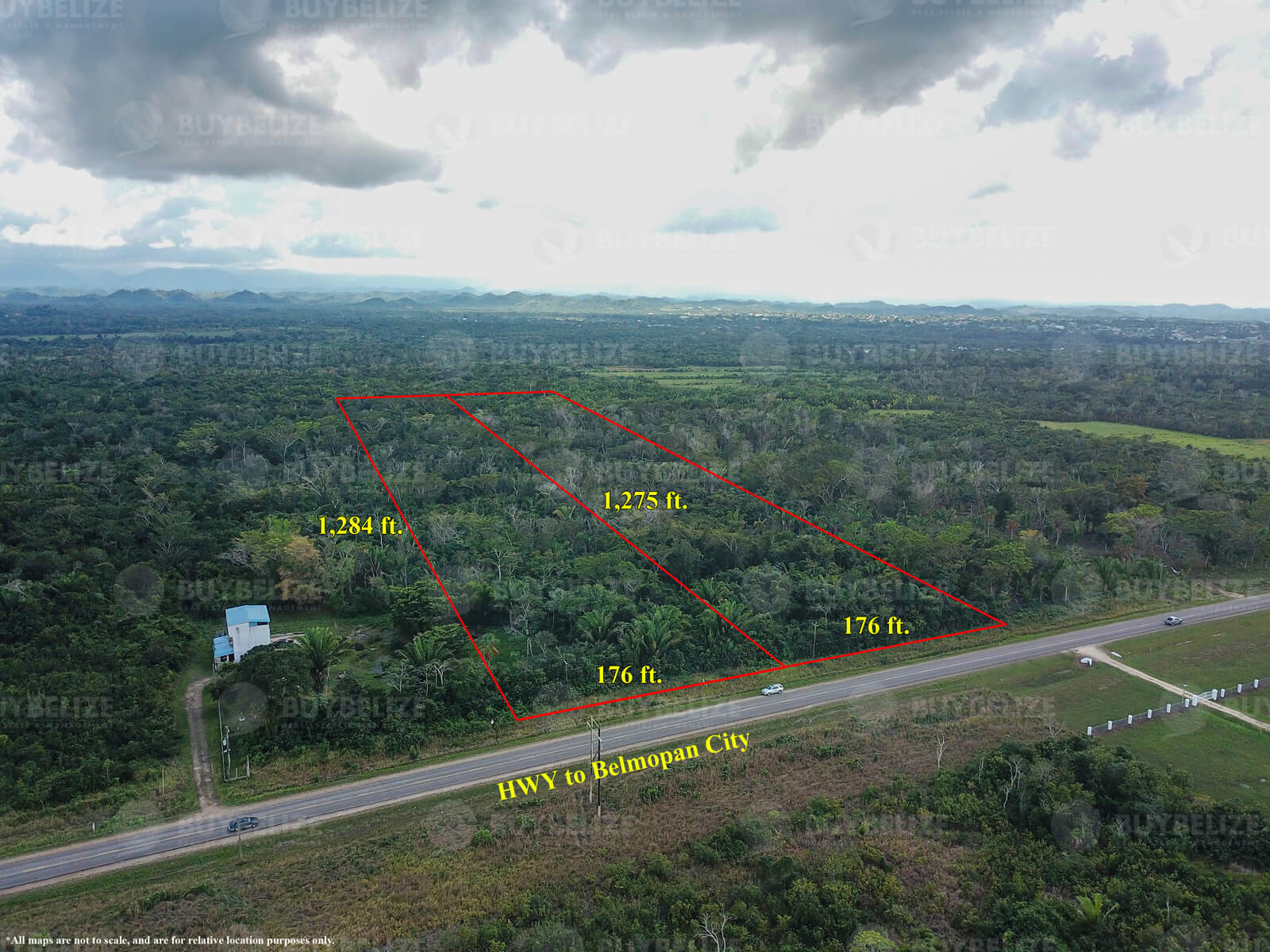 Two 5 acre HWY properties for sale in Belmopan