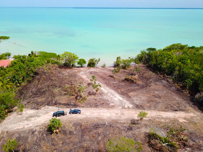Beachfront and Ocean View lots near Corozal Town